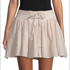 NWT Free People Polka Dot Flare Skirt